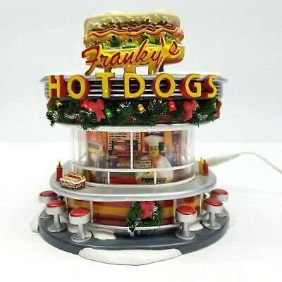 Department 56 Frankie's Hot Dogs 56.5608 Christmas Village Snow Ice Cream Stand