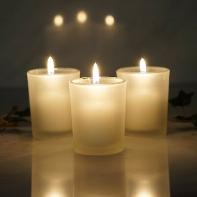 12 pcs Frosted GLASS Candle VOTIVE HOLDERS for Wedding Party Centerpieces SALE