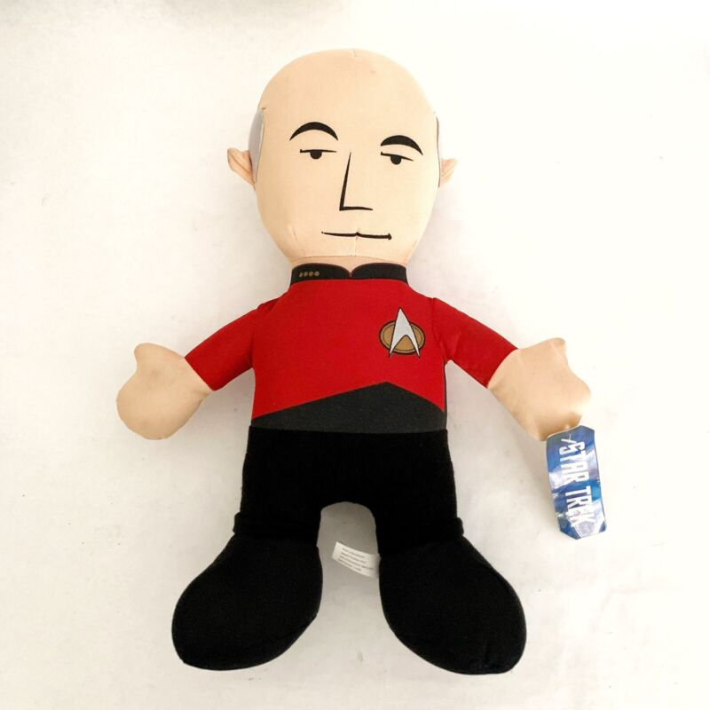"""Star Trek Plush Doll Captain Jean-Luc Picard 2013 Toy Factory 14"""" With Tag"""