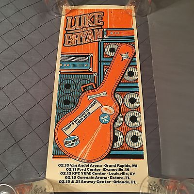 Luke Bryan Concert Poster from His That's My Kind of Night Tour 2015..