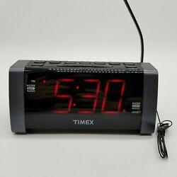 TIMEX Digital Alarm Clock Radio | Big Display, MP3 Line In, AM/FM, Dual Alarms