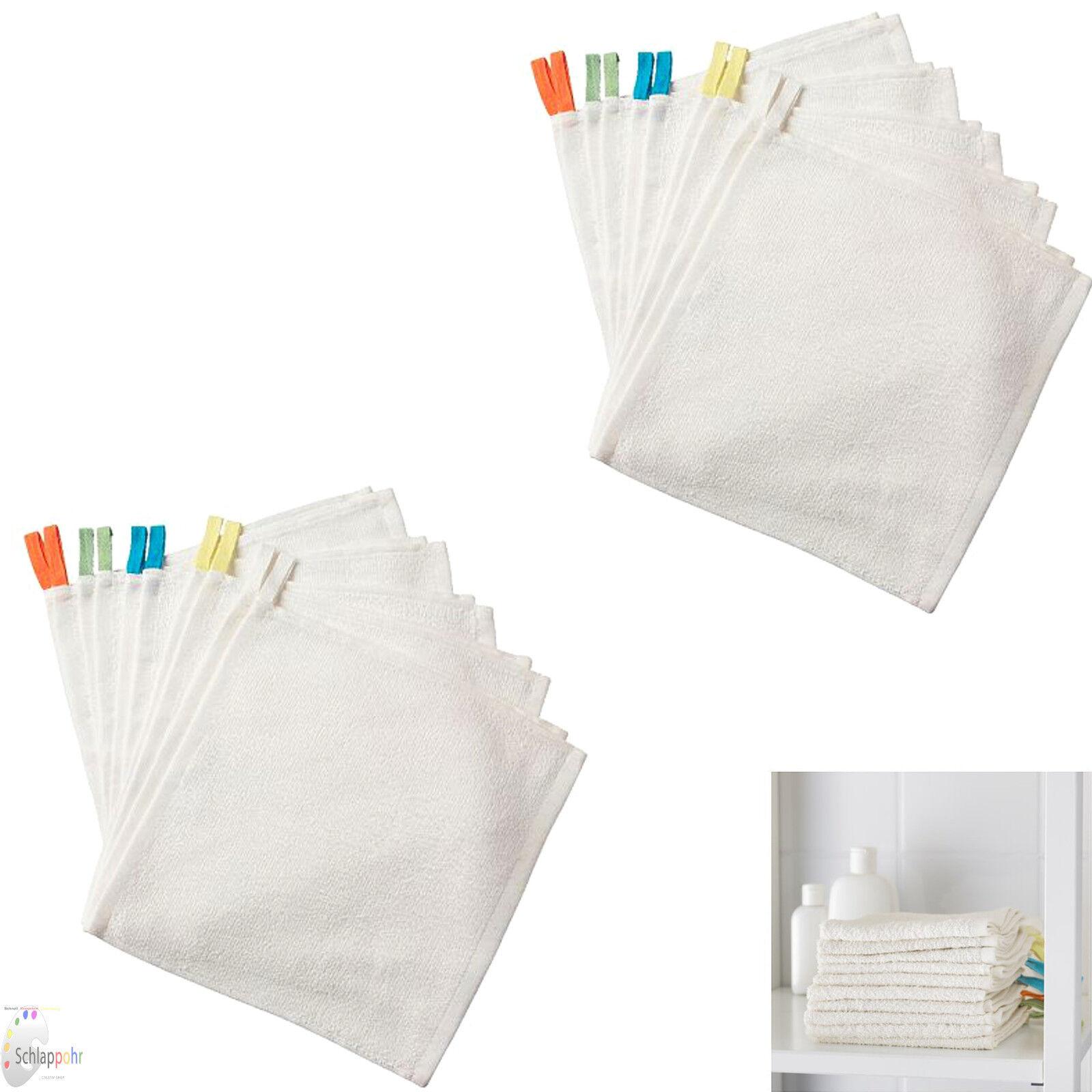 IKEA KRAMA 20 Stück Set Baby-Waschlappen Abschminken 100% Baumwolle NEU & OVP