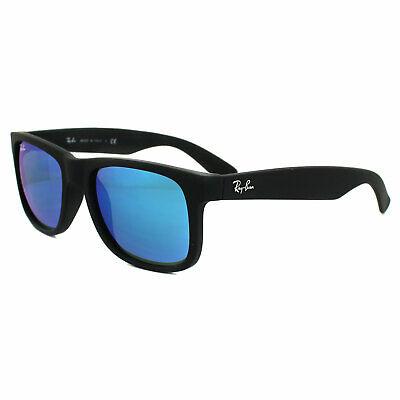 Ray-Ban Sonnenbrille Justin 4165 622/55 Schwarz Blau Spiegel