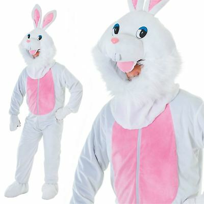 Adult Big Head Easter Bunny New Outfit Fancy Dress Mascot Costume White Rabbit - Adult Easter Dresses