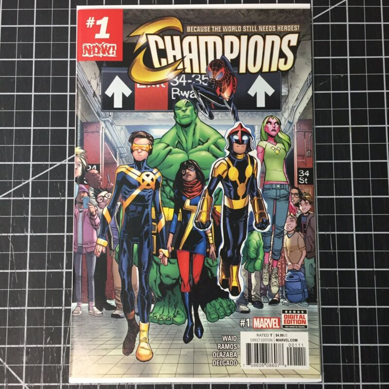Champions #1 (2016) First Print Marvel NM Miles Morales Hulk Nova Ms. Marvel
