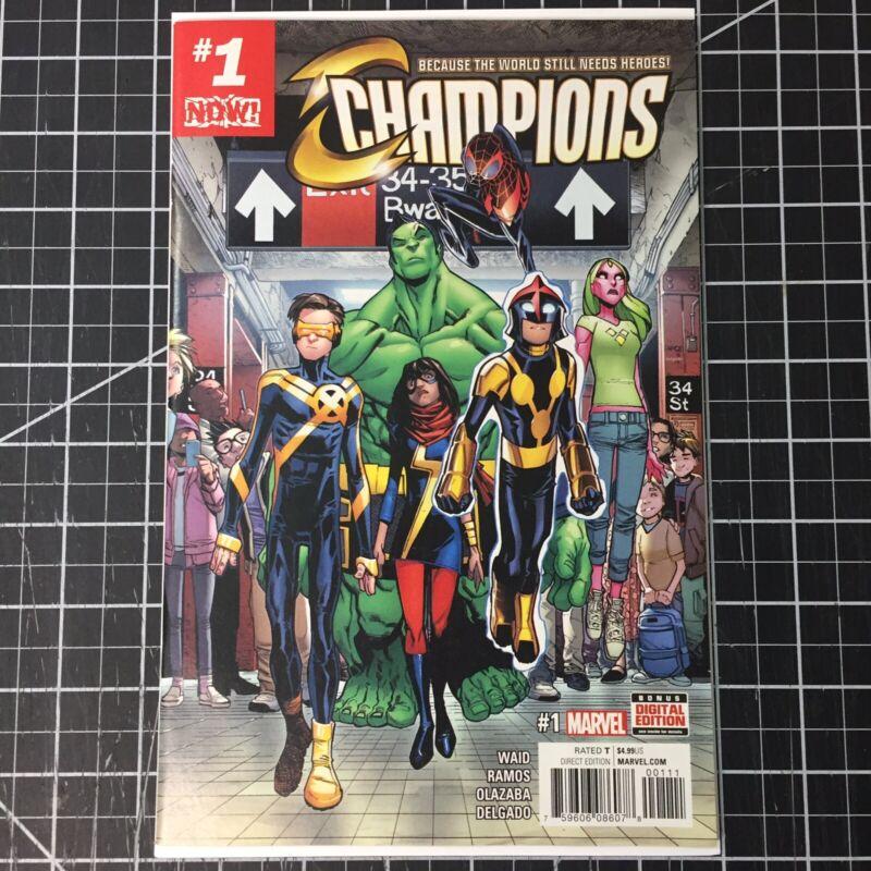 Champions #1 (2016) First Print Marvel NM Miles Morales Hulk Nova Ms. Marvel