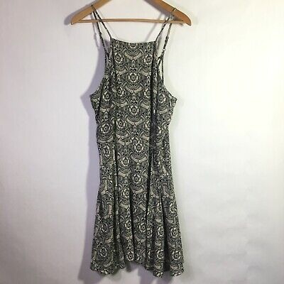 NWT Abercrombie and Fitch Fit and Flare Printed Boho Geometric Dress Large Flowy