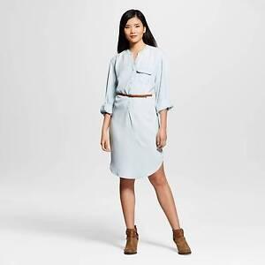 fada6ca8477 Buy Women s Light Wash Denim Shirt Dress - Merona XS online
