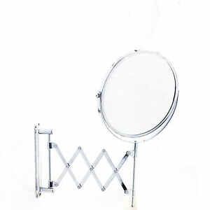 extendable magnifying bathroom mirror new extendable wall mirror magnifying makeup 18258