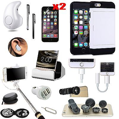 Case+Earphone+Selfie Stick+Fish Eye+Charger Accessory Kit For iPhone 6 iPhone 6S