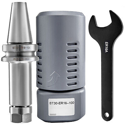 1pcs Bt30 Er16 Collet Chuck 4 100mm Tool Holder Include Wrench 40cr Frame
