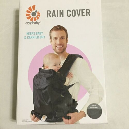 Ergobaby Carrier RAIN COVER Water Resistant Black NEW in BOX