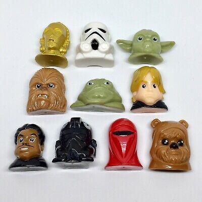 *RARE* Disney Star Wars Heads Action Figure Bundle Job Lot Vintage Yoda Luke Toy