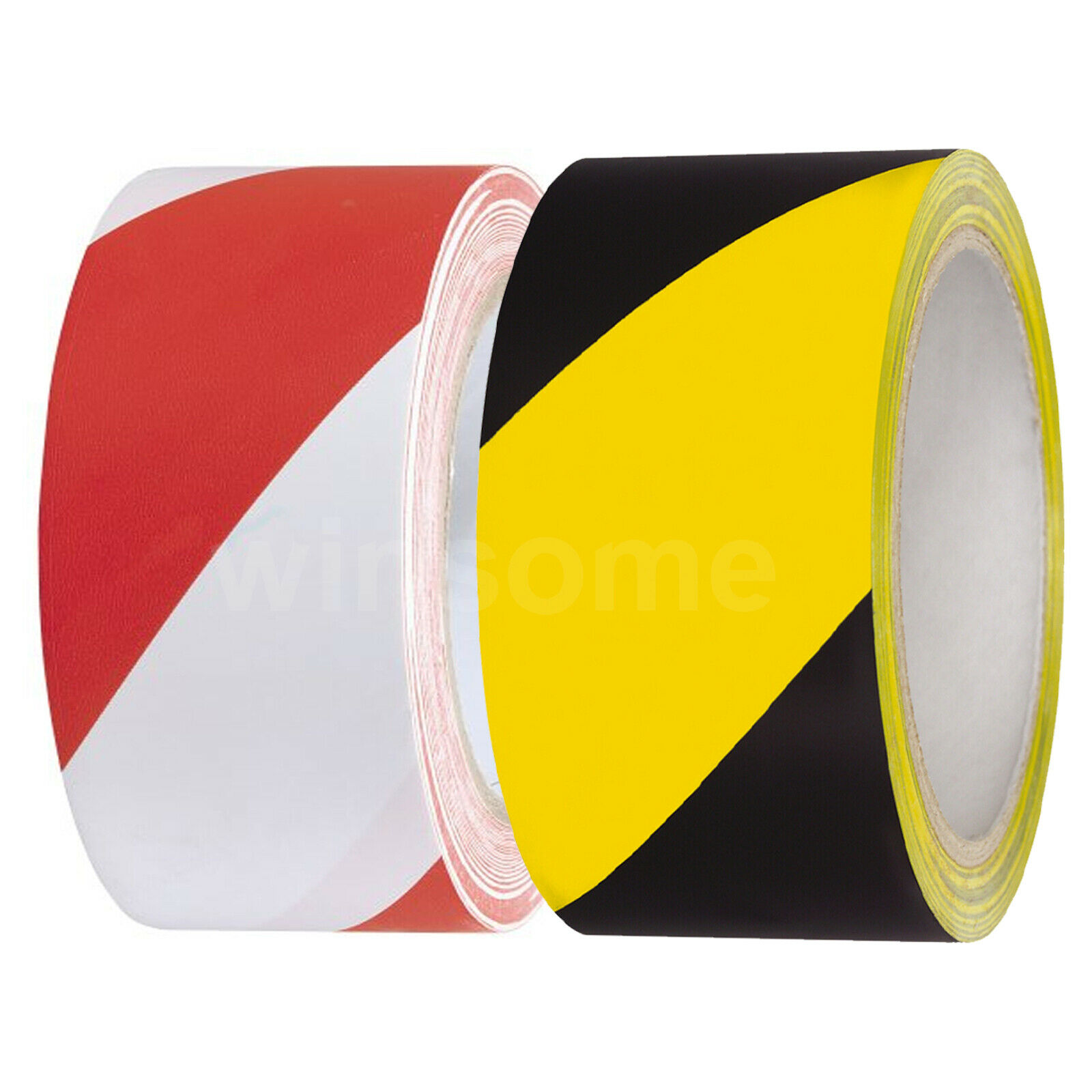 Warning Safety Tape Red White Hazard Tape Adhesive Marking Barrier Tape For walls floors pipes and equipment 33 m x 50 mm