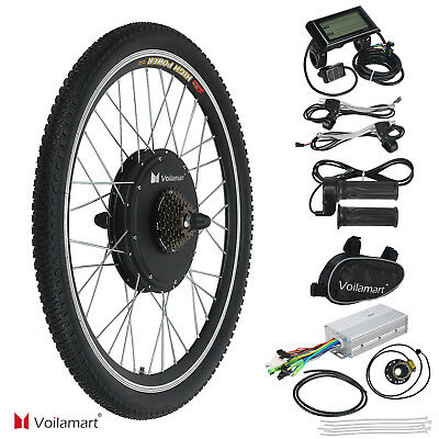 48V 1000W Electric Bicycle EBike Rear Cycling Wheel Conversion Kit Hub Motor