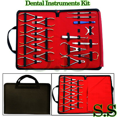 Basic Orthodontics Dental Instruments Set 18 Pcs Composite Kit Premium Dn-2123