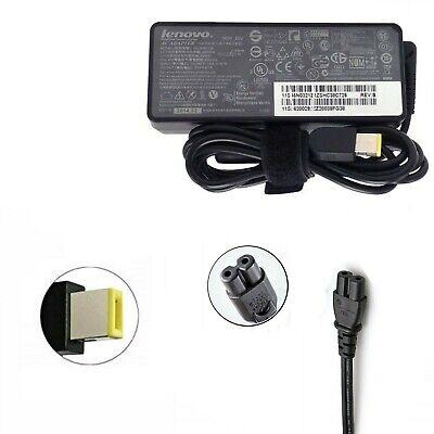 Genuine Lenovo ThinkPad Laptop AC Charger Adapter 90W 20V 4.5A - SQUARE SLIM TIP