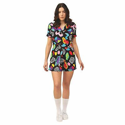 Stranger Things Eleven 3 Geometric Halloween Romper Costume Erika Dress