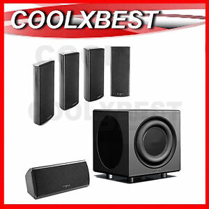 NEW 5 x SATELLITE SURROUND SPEAKERS + PASSIVE SUBWOOFER FOR HOME THEATRE HiFi