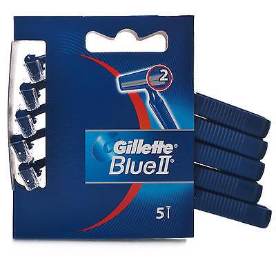 50 pezzi rasoio usa e getta GILLETTE BLU2 BLUII  doppia lama  -  testina fissa