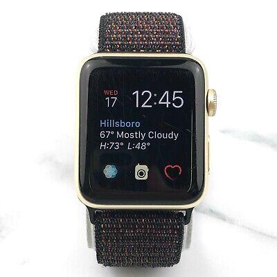 Apple Watch Series 2 42mm Gold Aluminium with Black Nylon Loop GPS 7/10