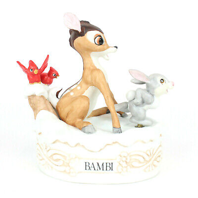 Disney Bambi Music Box w/Animated Thumper Figure Musical Memories LE Collectible
