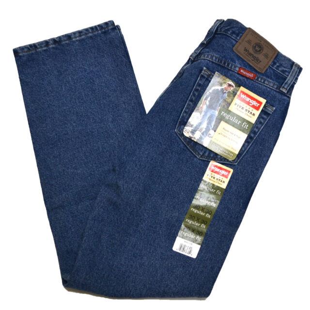 Wrangler Jeans Mens Regular Fit - Dark Stonewash Size 40 X 30 ...