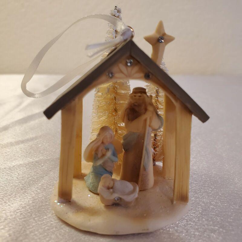 Foundations By Enesco Nativity Christmas Ornament~Karen Hahn Design~New in Box
