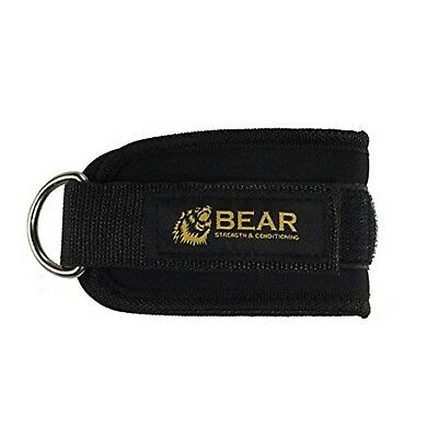 Padded Ankle Cuff -  Padded Ankle BEAR Strength Ankle Cuff Strap for Cable Machine Glute Training