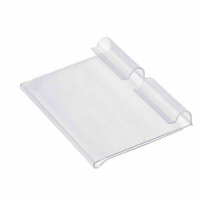 50pcs Clear Supermarket Sign Display Holder Wire Shelf Price Label Holder Racks