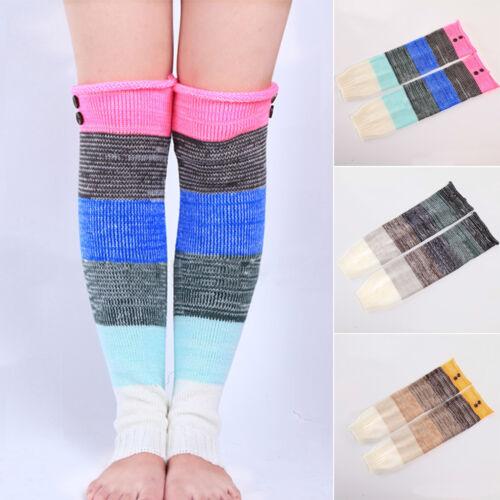 Women Winter Leg Warmers Crochet Warm Knitted Long Boot Sock