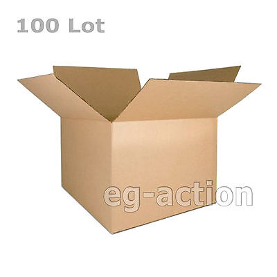 100 8x6x4 Cardboard Packing Mailing Moving Shipping Boxes Corrugated Cartons