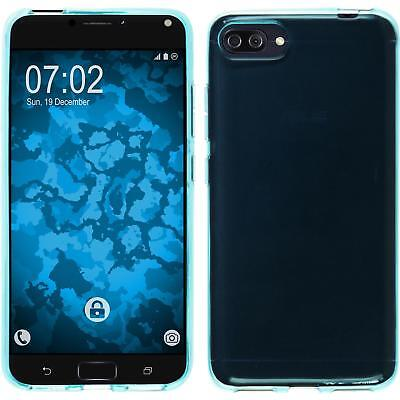 SILICONE CASE FOR ASUS ZENFONE 4 MAX ZC554KL TRANSPARENT TURQUOISE COVER