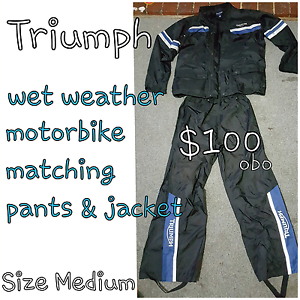 Triumph wet weather pants and jacket Mernda Whittlesea Area Preview