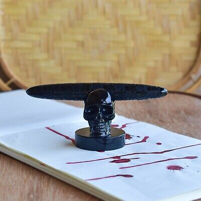 - BENU Black Skull Fountain Pen Stand