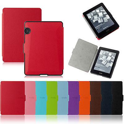 Magnetic Leather Smart Slim Cover Auto Wake Sleep Case For Amazon Kindle Voyage