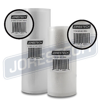 """2 Pack 11"""" x 50' and 8"""" x 50' Commercial Vacuum Sealer Saver Rolls Food Storage"""