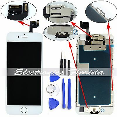 White Lcd Screen Replacement Digitizer Full Assembly For ...