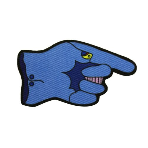 The Beatles Yellow Submarine Flying Glove Hand Printed Sew On Patch - 073-X