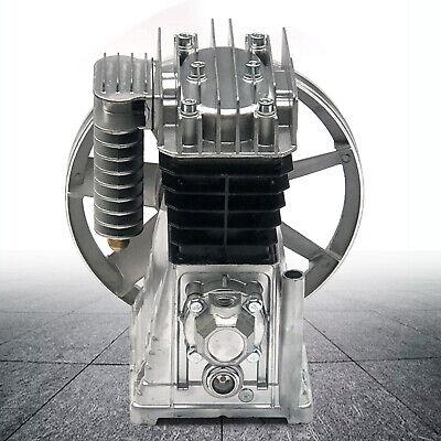 New 3hp 2.2kw Piston Cylinder Air Compressor Pump Motor Head W Silencer Screw