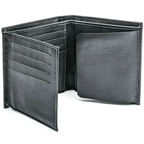 Winchester Oval Police Badge Wallet Bifold RFID Blocking, Genuine Leather