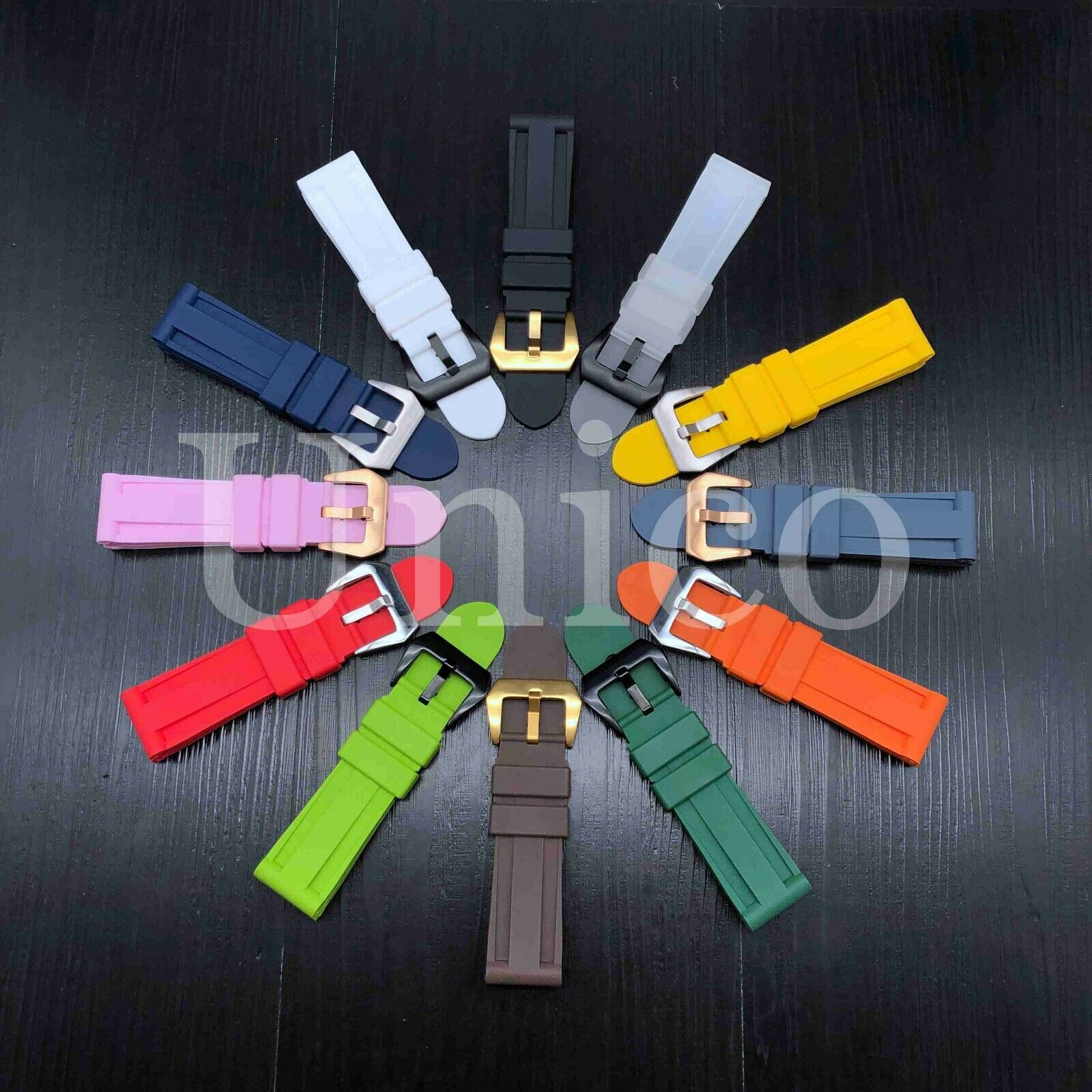 22 24 26 MM Rubber Strap Band Soft fits for Panerai Submersi