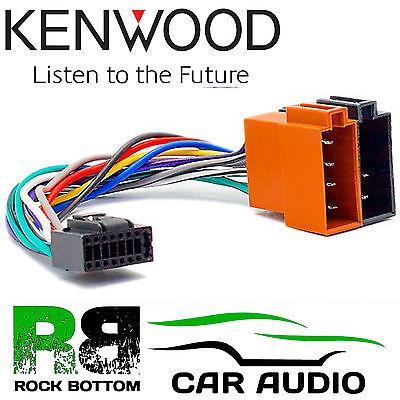 KENWOOD KDC-264UB Car Radio Stereo 16 Pin Wiring Harness Loom ISO Lead Adaptor