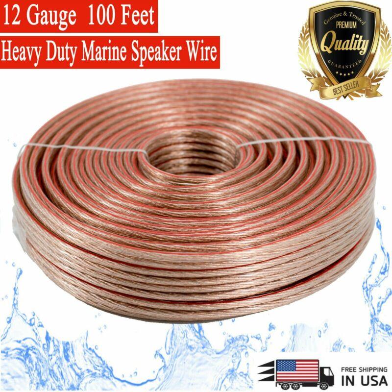 New 12 GA Gauge 100 Feet ft Heavy Duty Marine Car Home Audio Cable Speaker Wire