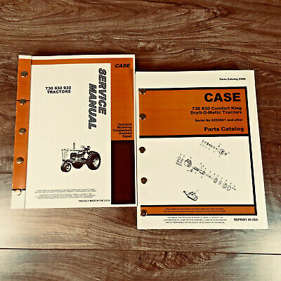 Case 730 830 Draft-o-matic Tractor Service Parts Manual Repair Shop Book