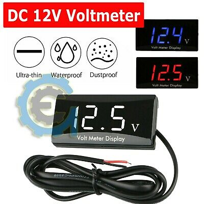 12v Digital Led Display Voltmeter Voltage Gauge Panel Meter For Car Motorcycle