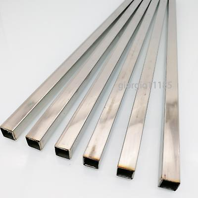 Us Stock 6pcs 10mm X 10mm 12 Long 0.5mm Wall 304 Stainless Steel Square Tube