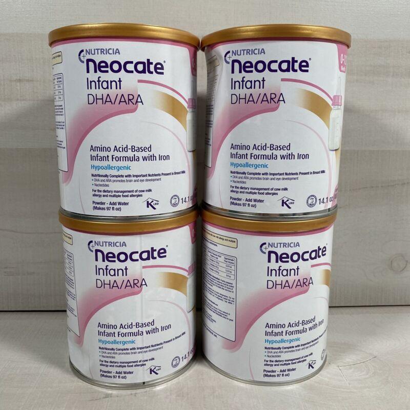 Lot Of 4 Nutricia Infant w/ DHA/ARA 14.1 oz/can New/Sealed Powder Baby Formula