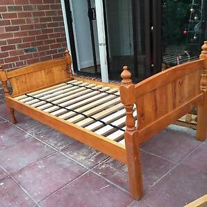 Real timber single bed Pascoe Vale Moreland Area Preview