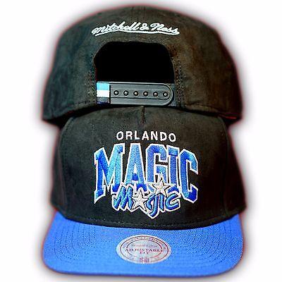 Original Mitchell & Ness Orlando Magic NBA Snapback Cap EU178 Schwarz/Royal Orlando Magic Snap